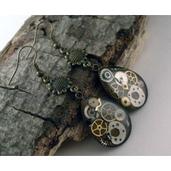 Mechanical earrings 703
